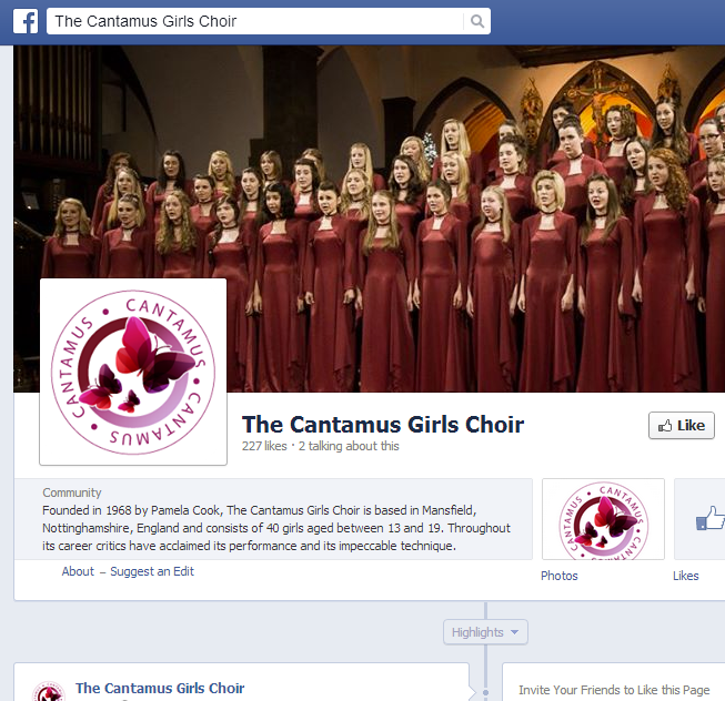The Cantamus Girls Choir - facebook